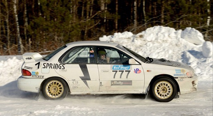 Jon Kramer at the SnoDrift Rally/Evan Sanders
