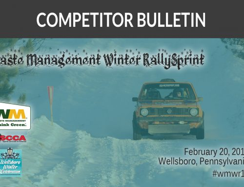 #WMWR16 Competitor Bulletin #2
