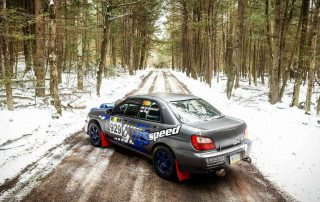 Matt Chmielewski (Harveys Lake, PA) and Pete Sandy (Moosic, PA) will run their inaugural rally together at the 2017 Waste Management Winter RallySprint on Feb. 18 in a 2002 Subaru Impreza WRX, the only entry in the R4O class. (Courtesy M. Chmielewski)