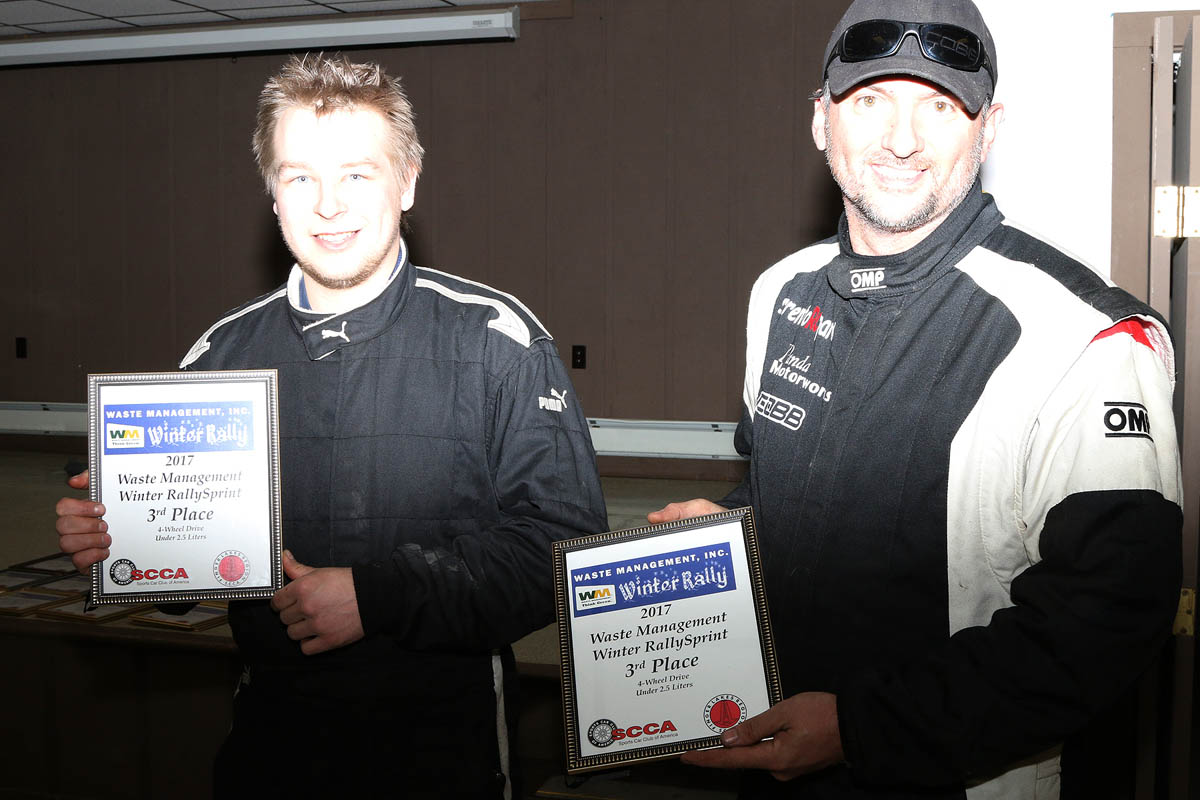 Sergi Grishin / Jack Swayze finished 3rd in the R4U class driving a 2000 Subaru Impreza 2.5RS. (Lori Lass)